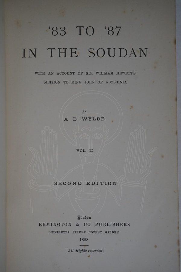 WYLDE '83 to '87 in The Soudan