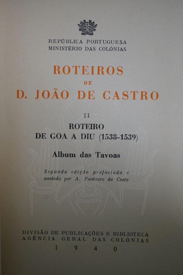 CASTRO & FONTOURA Roteiros de D. João de Castro