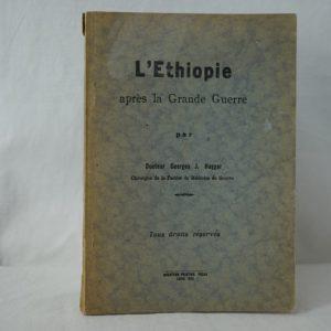 HAGGAR L'Ethiopie après la Grande Guerre.