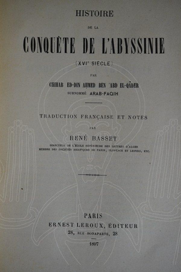 BASSET (René),'ARABFAQÎH SHIHÂB al-DÎN